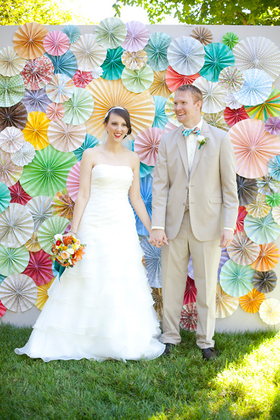 pinwheel wedding backdrop