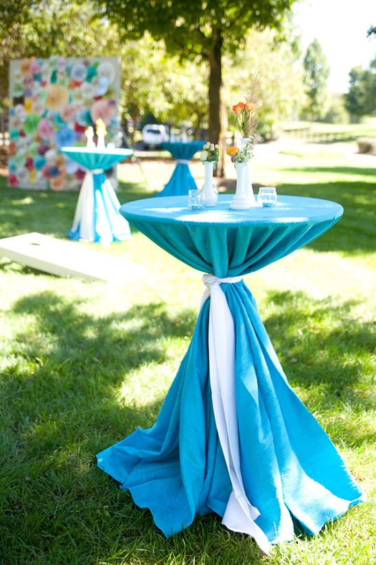 blue cocktail tables