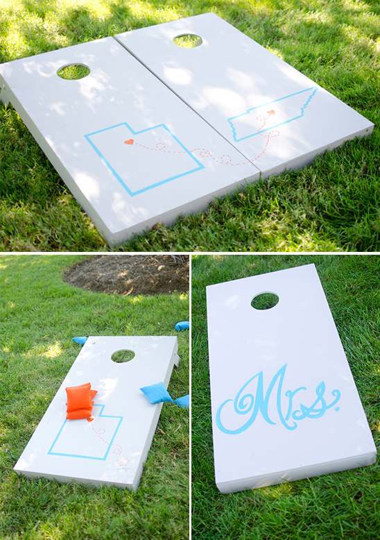 customized wedding corn hole game