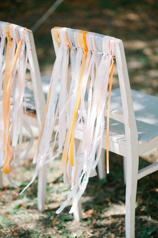 ribbons on wedding chairs