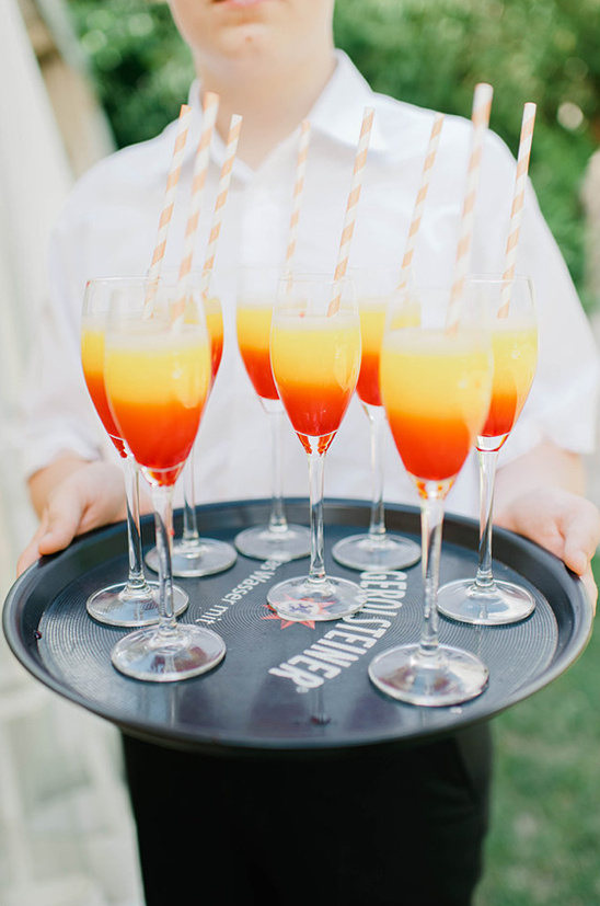 colorful wedding drinks