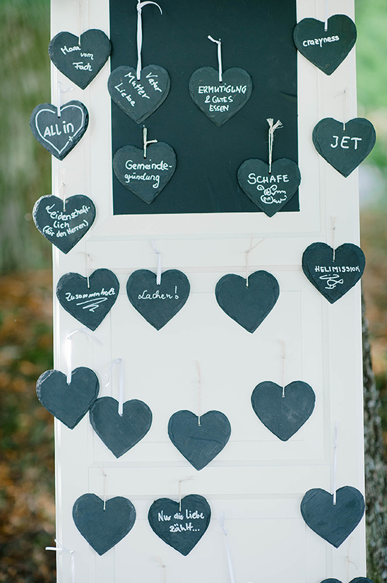 chalkboad guest book ideas