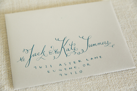 Art Deco Letterpress Wedding Invitation