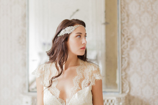 Gold bridal headpiece - Just listed