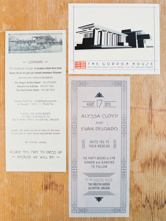 Frank Loyd Wright Wedding Invite