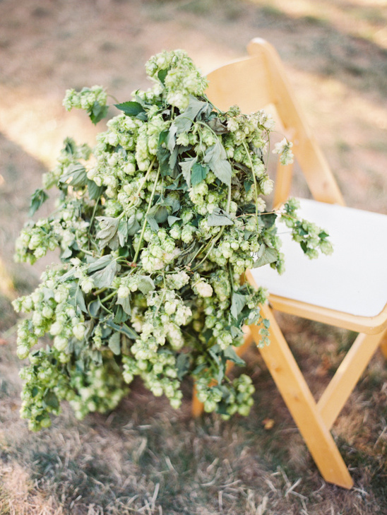 oragnic chair wedding decor