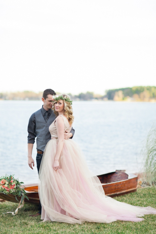 romantic engagement on the lake
