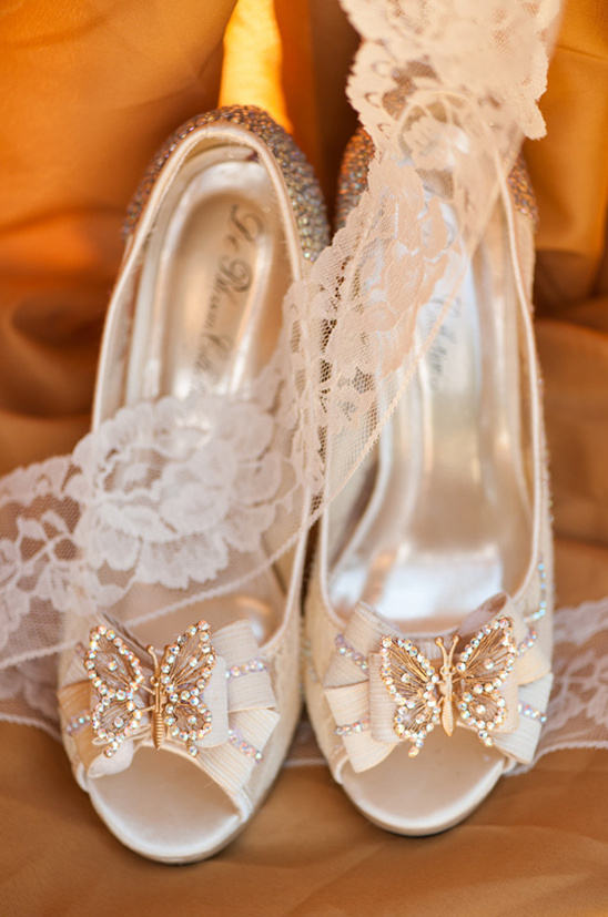 butterfly wedding shoes