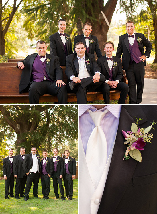 purple and black wedding ideas