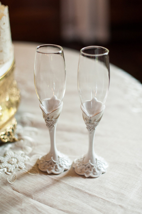 shabby chic champange glasses