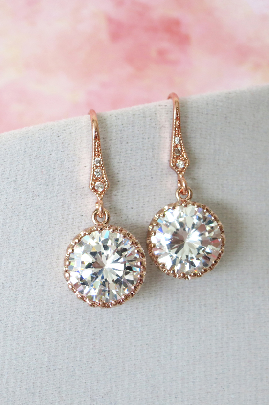 For Brides who love Rose Gold Bridal Jewelry