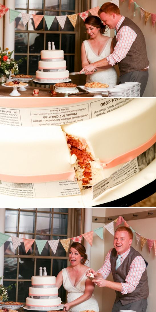 its a girl surprise pink wedding cake