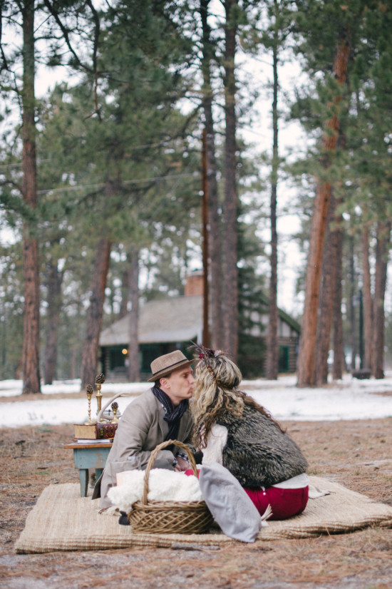 A Rustic Winter Engagement in Colorado