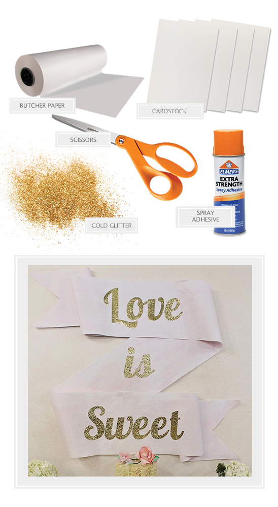 glitter swag sign materials