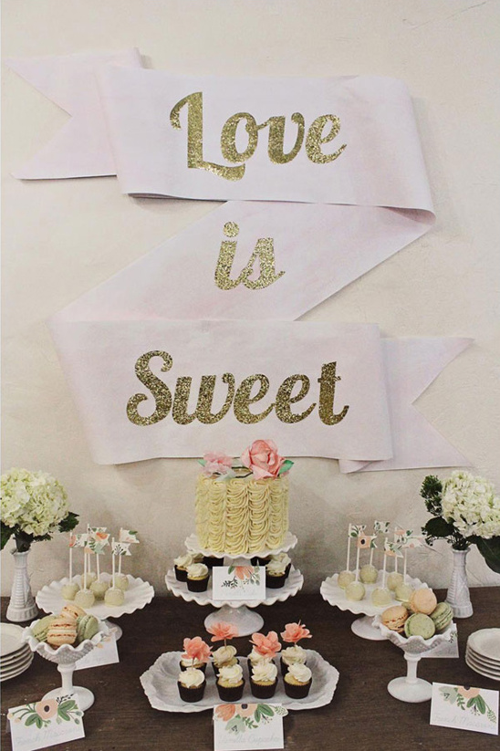 DIY love is sweet swag sign