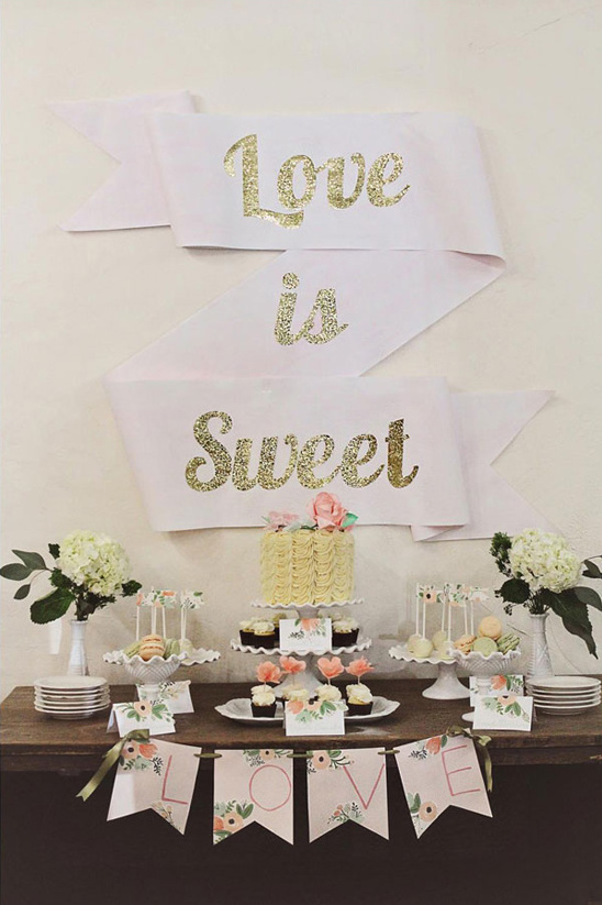 DIY cake table decor