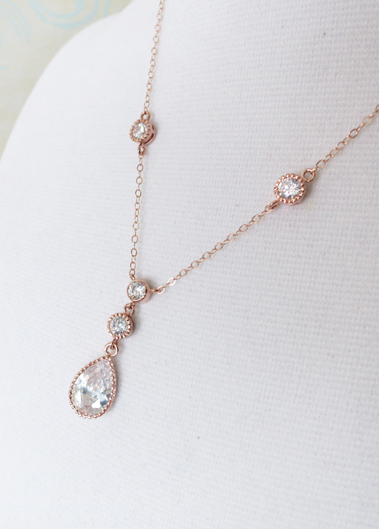 for the LOVE of Rose Gold Bridal Jewelry