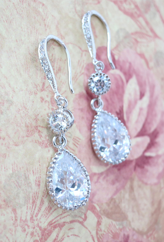 Bridesmaid Jewelry Set - Silver