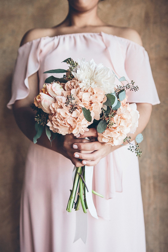 light pink bridesmaid ideas