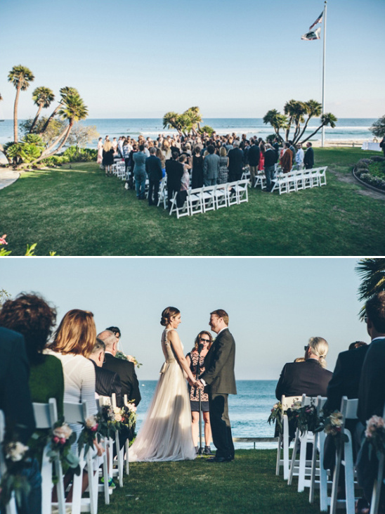 wedding overlooking beach