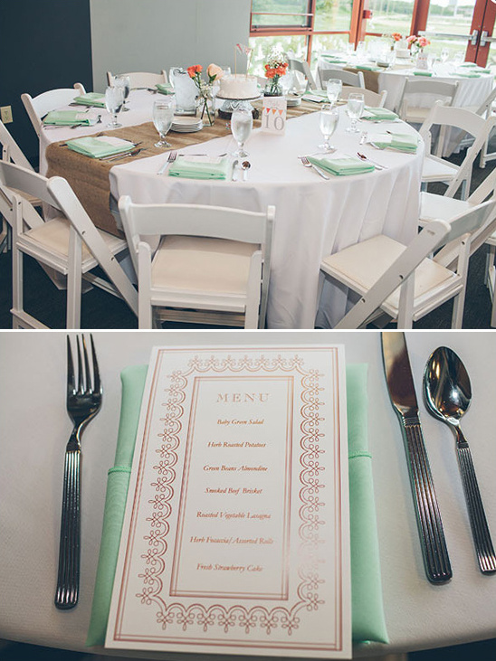 mint and peach wedding ideas