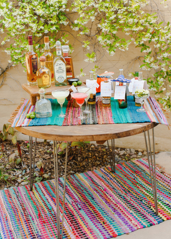 How to set up a Margarita Bar + Free drink printalbes