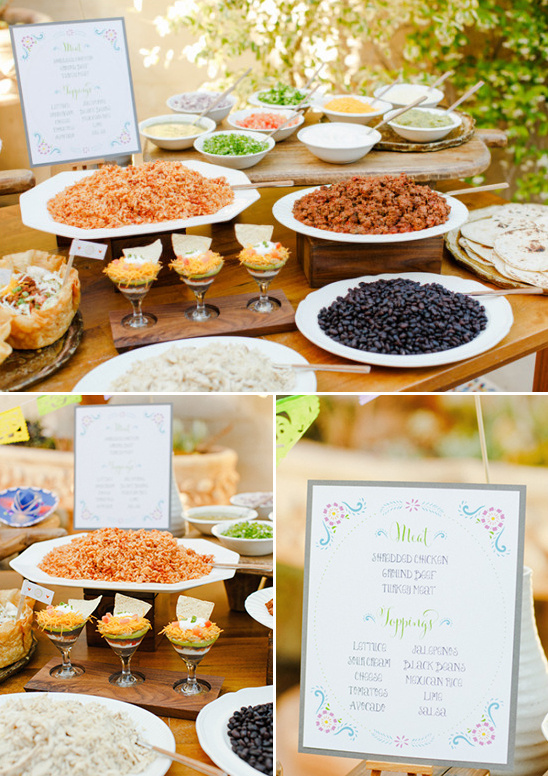 how to set up a taco bar