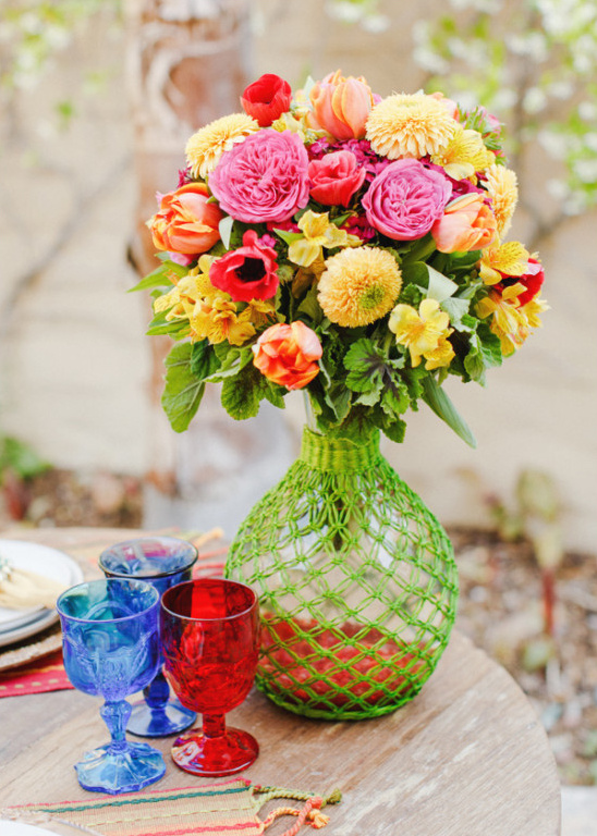 bright floral arrangements