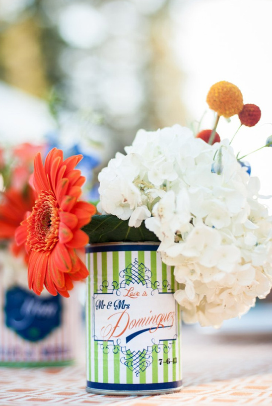 personalized can floral arrangements
