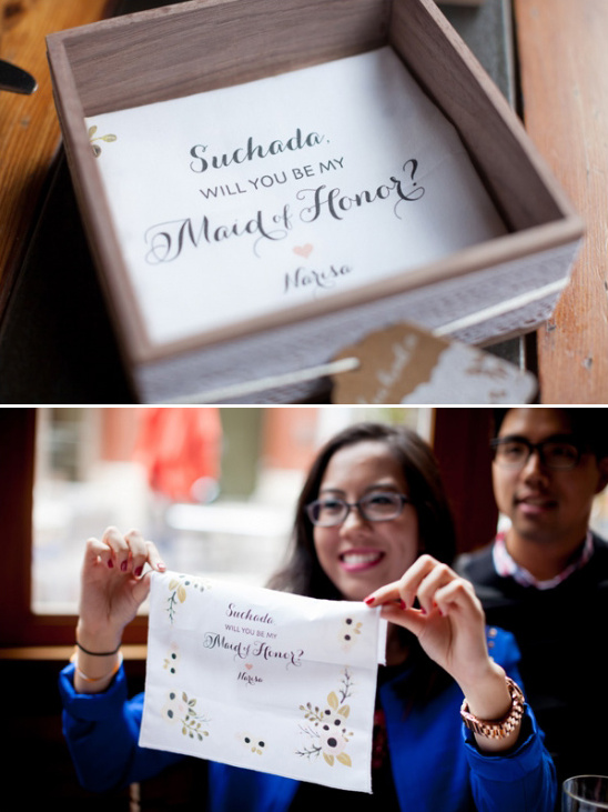 will you be my maid of honor hanky