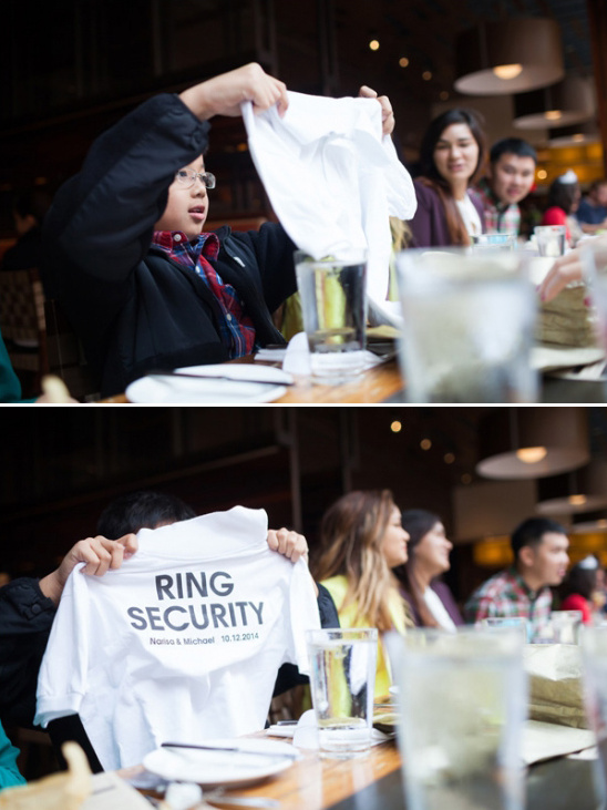 for the ring bearer a ring security tee shirt