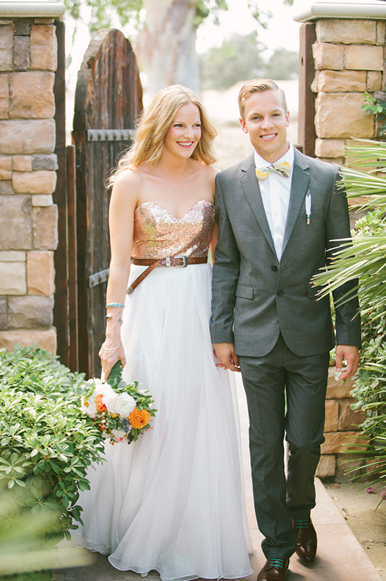 unique bride and groom style