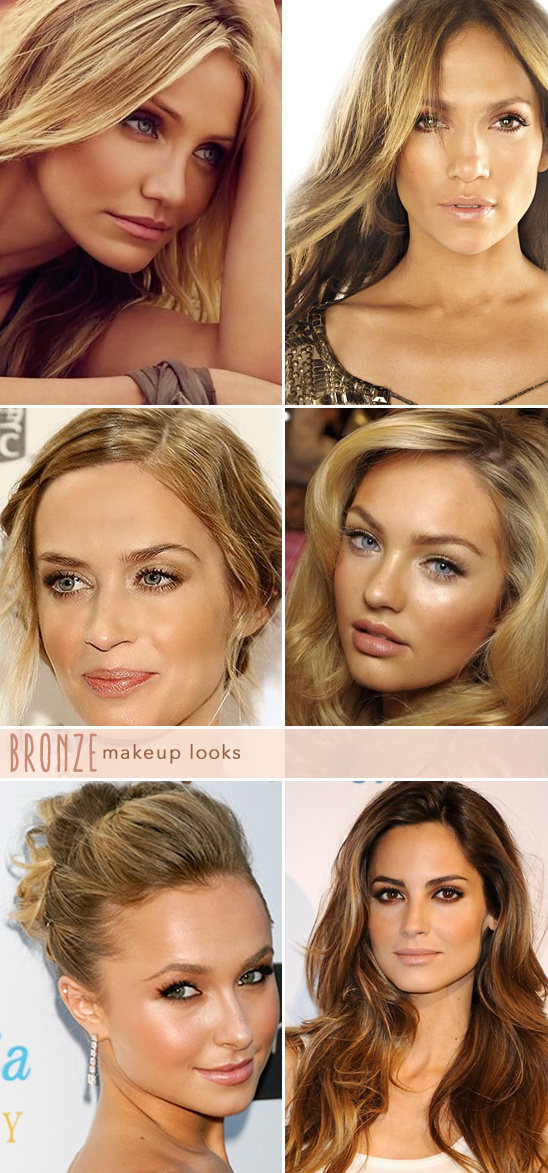 celebrities in bronze makeup