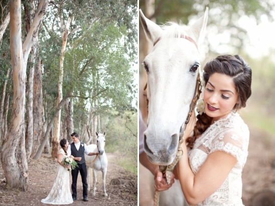 bridal portraits with a horse