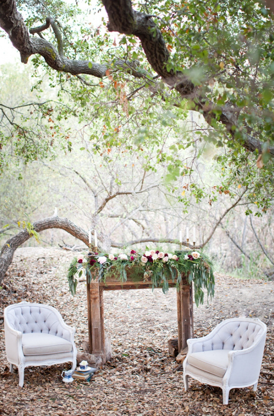 outdoor reading nook under tree