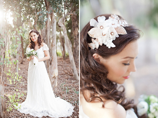 soft bridal looks and hair piece