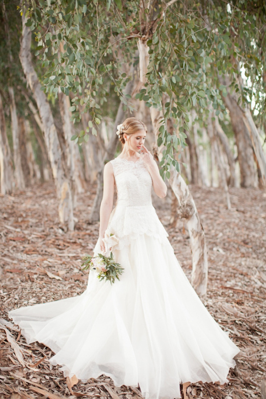 darling peplum wedding gown