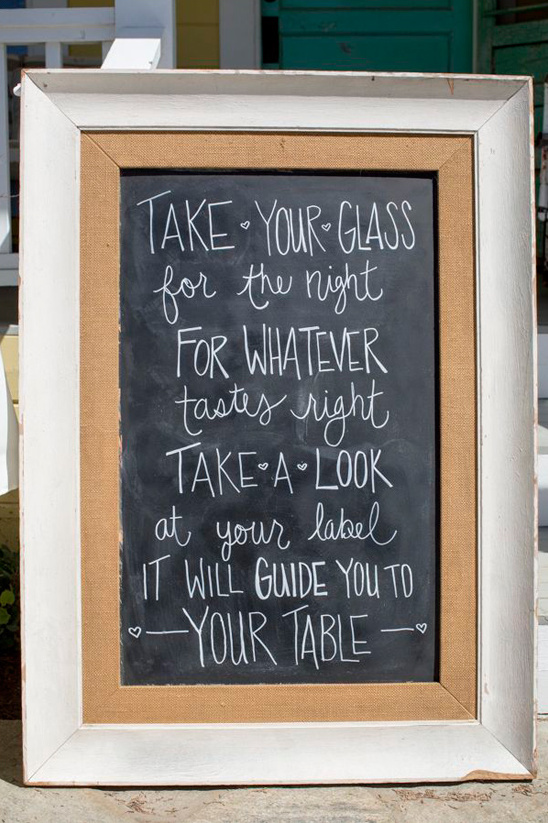 take your glass for the night chalkboard sign