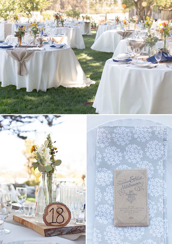 outdoor reception with earthy elegance