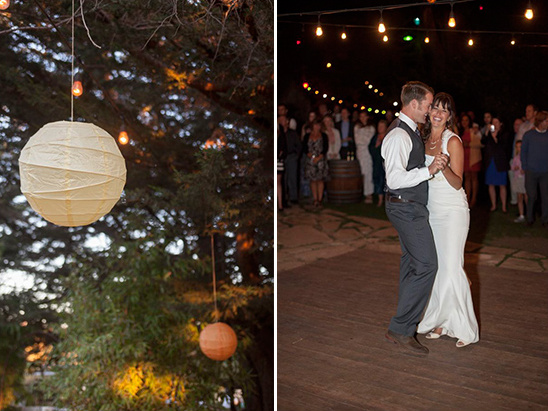 paper lanterns and first dance