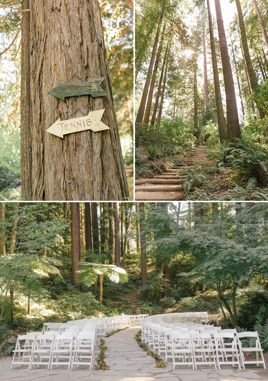 forested wedding ceremony