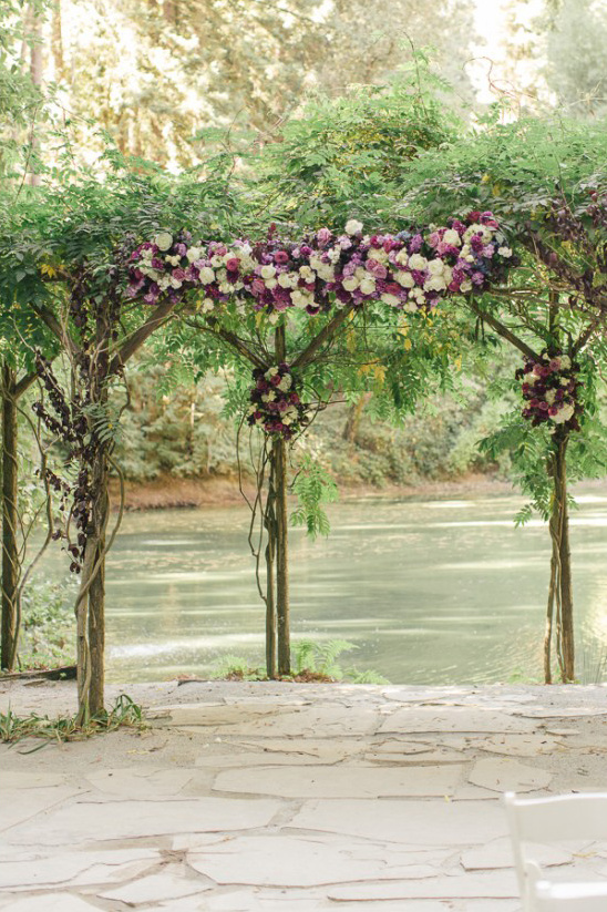 natural wedding arbor