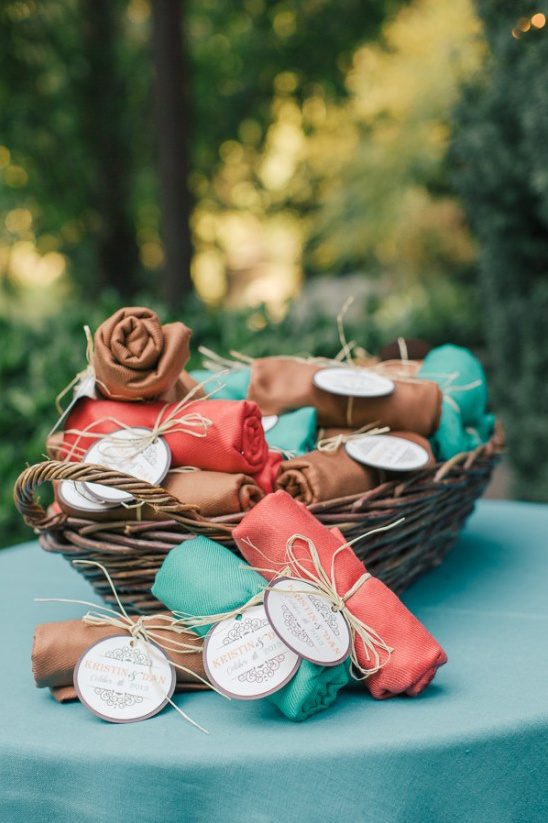 cozy wedding favors
