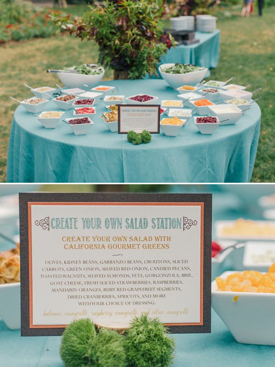 create your own salad station