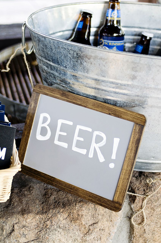a galvanized bucket for beer