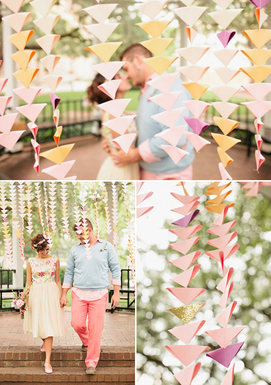 diy triangular backdrop