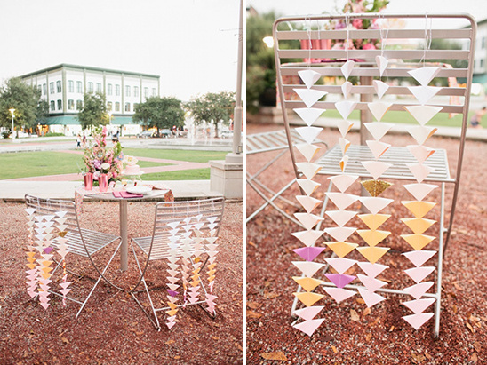 diy triangle drops chair backs