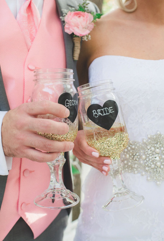 bride and groom cups