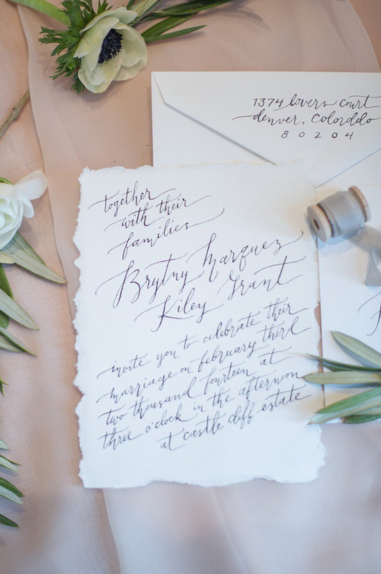 hand written wedding invites