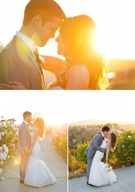 sunset wedding pics
